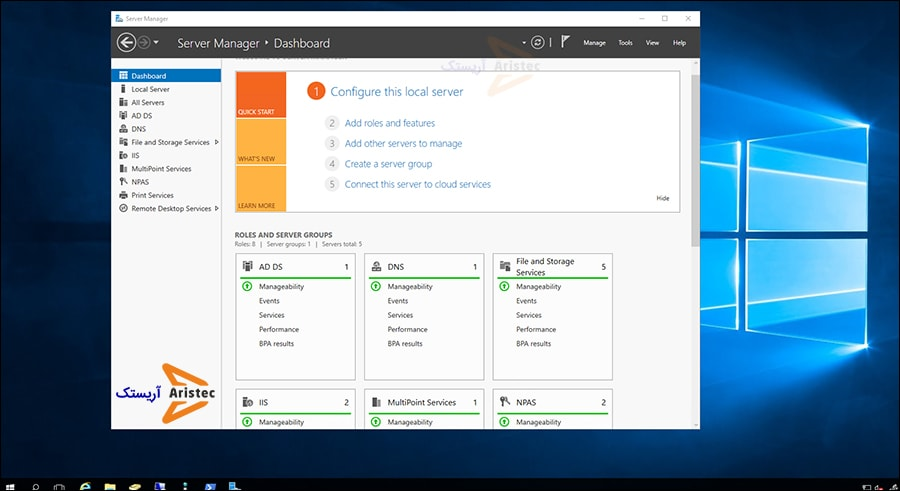 آخرین مرحله از آموزش نصب ویندوز سرور 2016 - آریستک